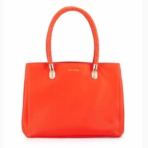 Cole Haan Large Benson Tote Citrus Red Coral